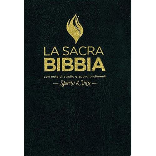 La Sacra Bibbia. Spirito E Vita. Ediz. Pelle Nera, Taglio Oro