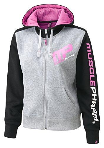 MusclePharm mPLSWT477 through sweat à capuche zippé mP-veste à capuche pour femme Multicolore - Schwarz / Pink
