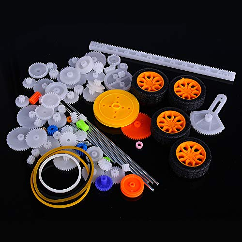 ExcLent 78Pcs Plastic Motor Gear Kit Diy Gear Assortment Accessories Set With Various Gear And Axle Belt Bus -