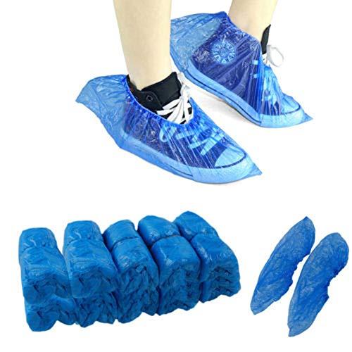 AchidistviQ - 100 Piezas de plástico Desechables Antideslizantes para Zapatos de Limpieza