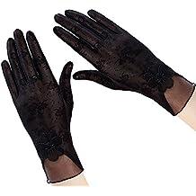1 par Estilo encaje Verano las mujeres pantalla táctil guantes sol UV protección conducción Guantes Antideslizante