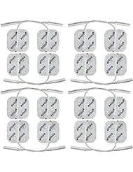 16 électrodes 40 x 40 mm - pour électrostimulateurs TENS et EMS avec connexion à fil 2 mm