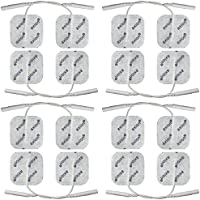 16 Stück Elektroden Pads 40x40mm, wiederverwendbar. Für TENS EMS Reizstrom-Gerät mit 2mm-Stecker-Anschluss