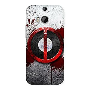 Delighted Bleed Dead Multicolor Back Case Cover for HTC One M8