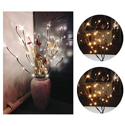 Party licht, Huihong 20 lampen führte weide zweig lampe floral lichter für zu hause weihnachtsfeier gartendekor (Zweig Floral)