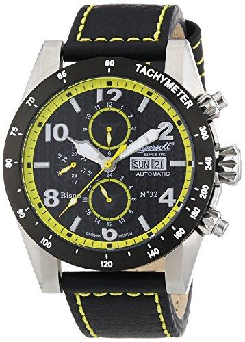 Ingersoll Herren-Armbanduhr XL Chronograph Automatik Leder IN1407BKYL