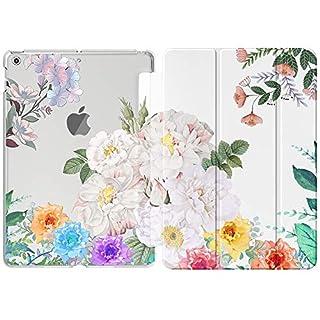 MoKo Hülle für Neu iPad 10.2 2019, PU Leder Tasche Schutzhülle mit Transluzent Rücken Deckel Auto Schlaf/Wach Funktion für iPad 7. Gen 10.2