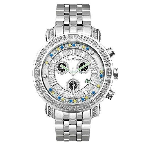 Joe Rodeo Diamond - período de tiempo para el reloj de los hombres de plata 2 ctw