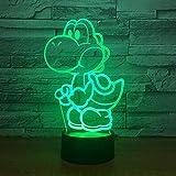 3D Nachtlicht Yoshi Mario 3D Led Lampe Cartoon Game Figure Super Acryl Neuheit Weihnachtsbeleuchtung Geschenk Touch Fernbedienung Spielzeug