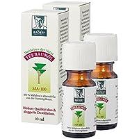 Der Teebaumöl Klassiker aus der Apotheke. Kombiangebot 2 x 10ml. Doppelt destilliert. Hilfreich bei unreiner Haut, Pigmentflecken, Fußpilz, Warzen. Schützt vor Zecken. PZN: D00237972