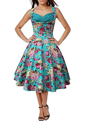 Arrowhunt-Womens-50s-Vintage-Floral-Print-Divinity-Rockabilly-Swing-Dress
