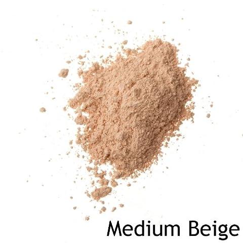 Mineralshack MEDIUM BEIGE MATTE mineral powder foundation 12 refill bag FULL COVER.