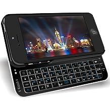 Eclipse, color negro ultra delgado teclado inalámbrico Bluetooth, para iPhone 5 deslizante, color negro