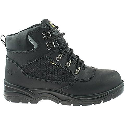 Sicherheit wasserdicht Hiker Typ Boot–Schwarz, schwarz - Black Action Leather/Nylon - Größe: 48 (Resistant Steel Toe Schuhe)