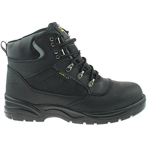 Hiker Typ Safety Stiefel, wasserdicht, Schwarz Black Action Leather/Nylon