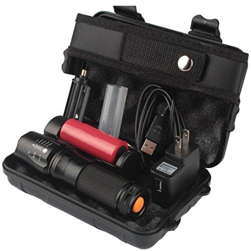 URSING 6000lm Echt Schattenfalke X800 Taktische Taschenlampe T6 LED Militär Taschenlampe Kit