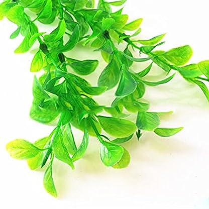 UEETEK Fish Tank Green Plastic Artificial Plants Aquarium Water Plants Decorations - PACK OF 3 6