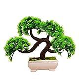 X-DAAO Kunstpflanze für Bonsai, kreativer Kunstbaum, Dekoration für den Schreibtisch Guest-Greeting Pine