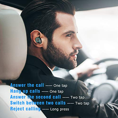 Bluetooth Kopfhörer Muzili V5.0 Bluetooth Kopfhörer in Ear, TWS Hi-Fi Bluetooth Headset kabellos IPX5 Wasserdicht Kopfhörer mit Mikrofon und 3000mAh Ladebox für Samsung Huawei Sony Black Berry HTC - 6