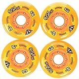 HYPER - PRO 250 Inliner Rollen I Rollen für Skates I stabile Felgen I Ersatzrollen I schnell & robust I starker Grip I für alle gängigen Inliner-Marken geeignet I 4er-Pack - Orange
