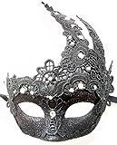 Venezianischen Göttin Maskerade Masken Halloween Party Makramee Schnüren & Strasssteine Maskerade Masken (Schwarz)
