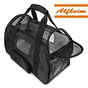 Pet Carrier for Dogs & Cats,Alfheim Durable Airline Cat Dogs Carrier Soft-Sided with A Pet Mats for Small Dogs and Cats