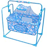 EHomeKart Baby Cradle And Swing Cum Mobile Crib With Mosquito Net With Pillow For Kids