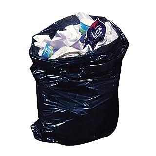 Aaron Chemicals 50 x BLACK SACK/10 x black sack/100 x black sack. PREMIUM BIN LINER Recycled Plastic REFUGE SACK 140g LARGE 18X29X39 (1 x sack)