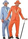 Déguisement duo film Dumb and dumber années 90 Jim Carey Jeff Daniels - Multicolore, Costume orange L et costume bleu L