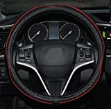 Rueesh Microfiber Leather Car Steering Wheel Cover, Soft Padding, Durable, No Smell, Universal