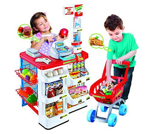 TOYS center Funny Home - Shopping Market - Gioco Supermercato per Bambini con Cassa Giocattolo, Carrello ed Accessori Inclusi