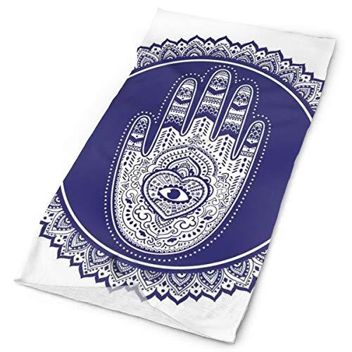 Magic Headwear Outdoor Scarf Headbands Bandana,Middle Eastern Mandala Motif With Oriental Hand Design With Heart And Eye,Mask Neck Gaiter Head Wrap Mask Sweatband