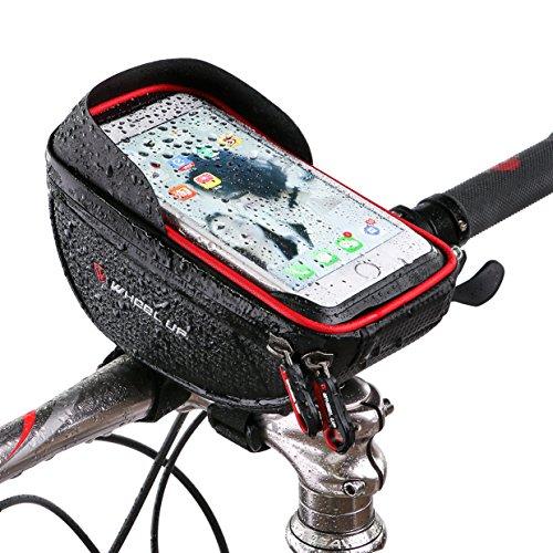 Fahrrad Lenker Tasche Telefon ANVIEWER Wasserdicht Rad Fahrrad Rahmen Tasche Smartphone Montage Halter für Telefon bis zu 6.0 Zoll Lenkertasche mit großer Kapazität (Fahrrad-rad-tasche)