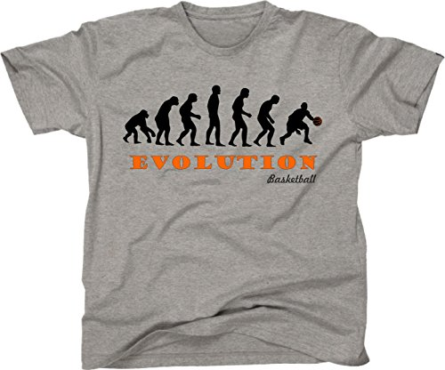 t-shirt basket evolution evoluzione pallacanestro sport uomo donna bambino S M L XL XXL maglietta by tshirteria