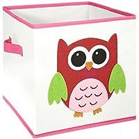 Preisvergleich für FABELBUNT® faltbare Spielzeugkisten mit versch. Tiermotiven (30x 30x 30cm)