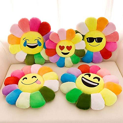 Homieco Sonnenblume Ausgestopft Plüsch Spielzeug Puppe Weich Werfen Kissen zum Sofa, Couch, Auto, 20inch/Blink -
