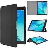 ELTD Samsung Galaxy Tab A 9.7 Etui, Ultra Slim etui Housse pour Samsung Galaxy Tab A T550 avec et la Fonction Sommeil/Réveil Automatique, Noir