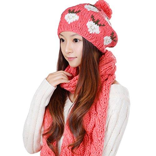 Chapeaux de dames coréen/ deux pièces/Chaude écharpe/Chapeau D