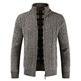 BaZhaHei Herren Mantel Winter Zipper Tops Solid Stehkragen Pullover Strickjacke Mäntel Winterjacke Steppjacke Sweatjacke Draussen Wärmejacke Jackenständer Warm Gesteppt Outwear Mantel