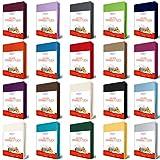 EllaTex TOPPER Jersey Spannbettlaken 140x200 - 160x200 cm aus 100% Baumwolle, in Farbe: Anthrazit-Grau