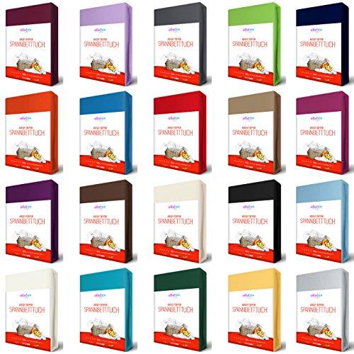 Voll Matratze Topper (EllaTex TOPPER Jersey Spannbettlaken 140x200 - 160x200 cm aus 100% Baumwolle, in Farbe: Schokobraun)