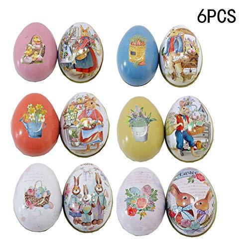 Pasqua Decorazioni da Appendere, DOTBUY casa Uova Coniglietto tavola Giardino Legno/Ceramica Albero Fai da Te Bambini Decorazione di Festa pasquali
