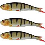 Savage Gear 'LB Soft 4Play Perch 9,5cm Swim&Jerk' 3Stk. im SB Pack, Softbait, Gummifische, Shad