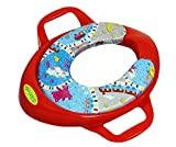 #3: BabyGo Soft Cushion Potty Trainer Comfortable Seat with Support Handles (Red)