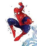 PGbureau Amazing Spiderman Poster–inspiré de coloriage Aquarelle d'impression d'Illustration Art 8x 10P04