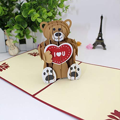 6c69ab32f4f Tarjetas 3D Stereo Unique Teddy Bear Tarjetas de felicitación por Znyo