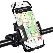 Supporto Bici Smartphone, Universale per il Manubrio della Bici, Porta Telefono Bici, GPS e altri Dispositivi Elettronici per Bicicletta Ciclismo, Compatibile per iPhone 7/6/6S/6/6S Plus/5/5S, Galaxy S7/S4/S5/S6 Edge/Note 5, Huawei LG Xiaomi Nokia, per Bici Moto Bike,