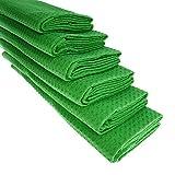 6X Strofinaccio In Cotone A Nido di Piqué in verde cucina panno pulizia panno in microfibra straccio