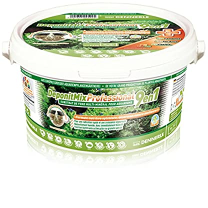 Dennerle Deponit 9-in-1 Professional Mix, Aquarium Substrate Multi-Mineral Base 2.4 kg 1
