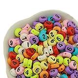 Bunte runde Perlen A-Z Buchstaben für die Herstellung von Schmuck